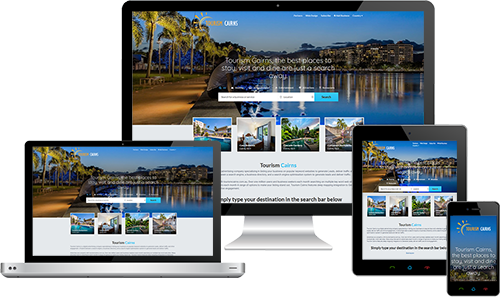 Tourism Cairns displayed beautifully on multiple devices